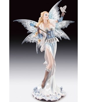 "Fairy w/ Snow Owl 23""T"