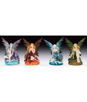 Fairies  with Dragons 4 pc set