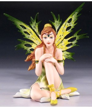"*Green fairy sitting 4-3/4""H"