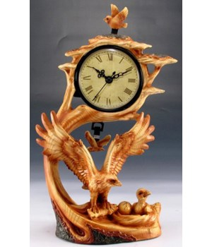 "Wood-like""carved""' eagle clock"
