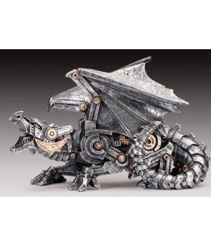 Steampunk Dragon Silver 5.5""