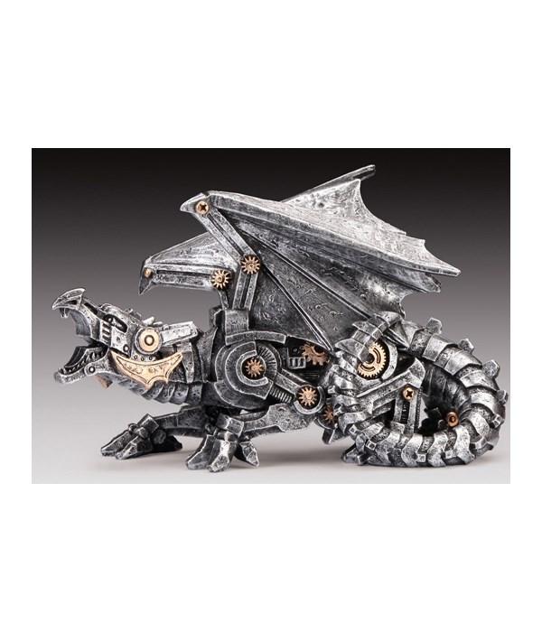 "Steampunk Dragon Silver 5.5"""