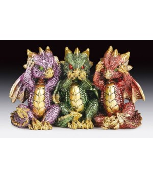 "No evil dragons 3-1/4""T"