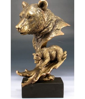 Bronze Bear heads