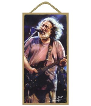 Jerry Garcia (singing into microphone an