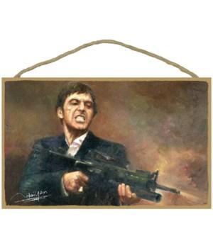 Scarface - Al Pacino holding a machine g