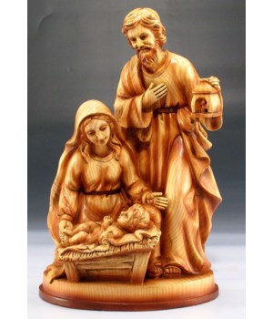 Nativity M,J,Baby wood look