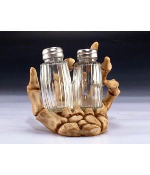 "*Skeleton hand Salt & Pepper Set - 5.75"""