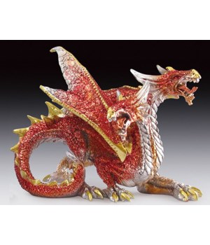 Twin head red dragon
