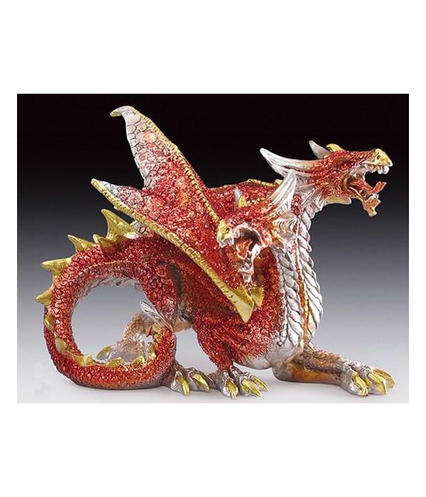 Twin head red dragon
