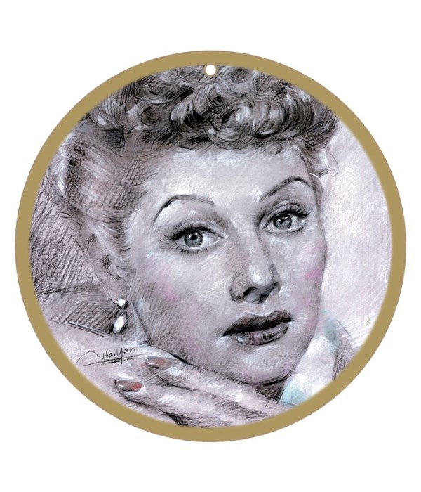 Lucille Ball (hands at her chin)