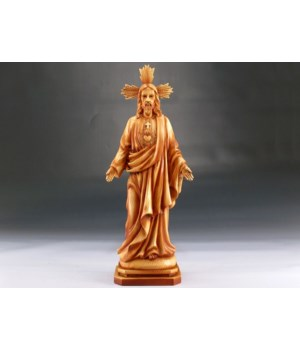"Wood-like""carved"" Jesus 13"""