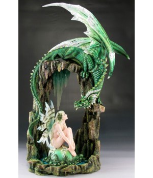 Fairy w/ Dragon & Rock Arch 20 3/4""