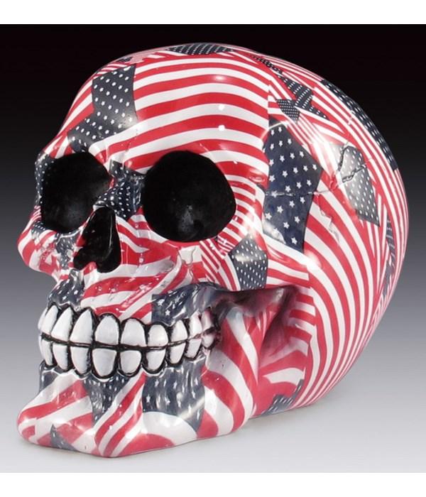 """Flag skull 4-5/8"""""""