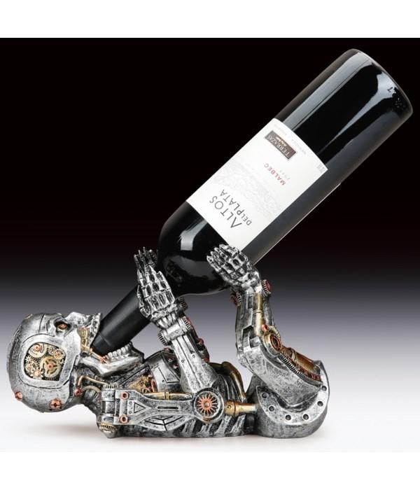 """Steam Punk Skeleton Wine Holder - 6""""T"""