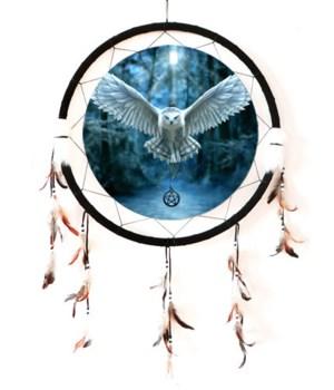 "Dreamcatcher 24"" Snow Owl/hex medal"