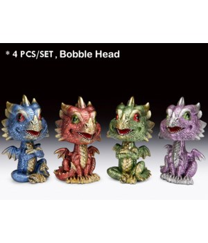 "Bobble head dragons 5 1/2""H"