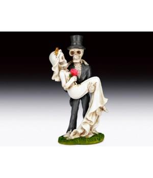"""Skeleton Wedding Couple 8 5/8""""H"""