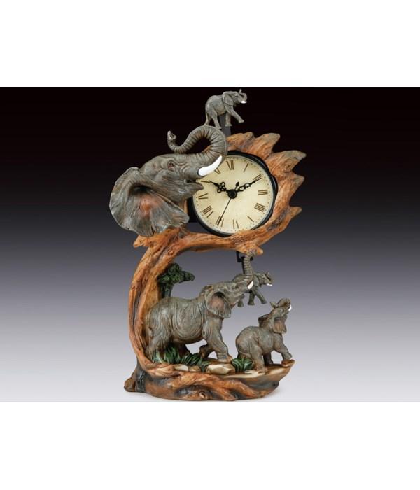SWING CLOCK, ELEPHANT FAMILY