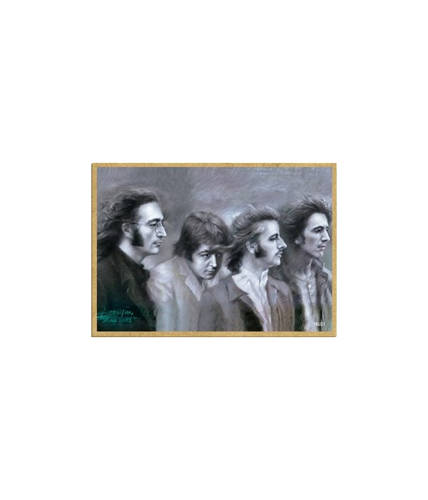 The Beatles (black and white portrait) M