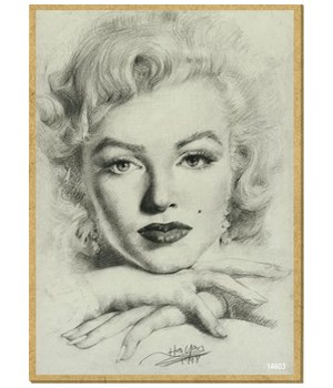 Marilyn Monroe (close up, resting chin o