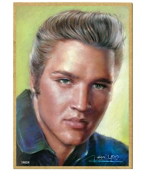 Elvis Presley (full color close up of hi