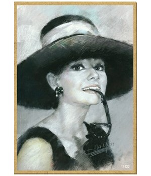 Audrey Hepburn (black & white) Magnet