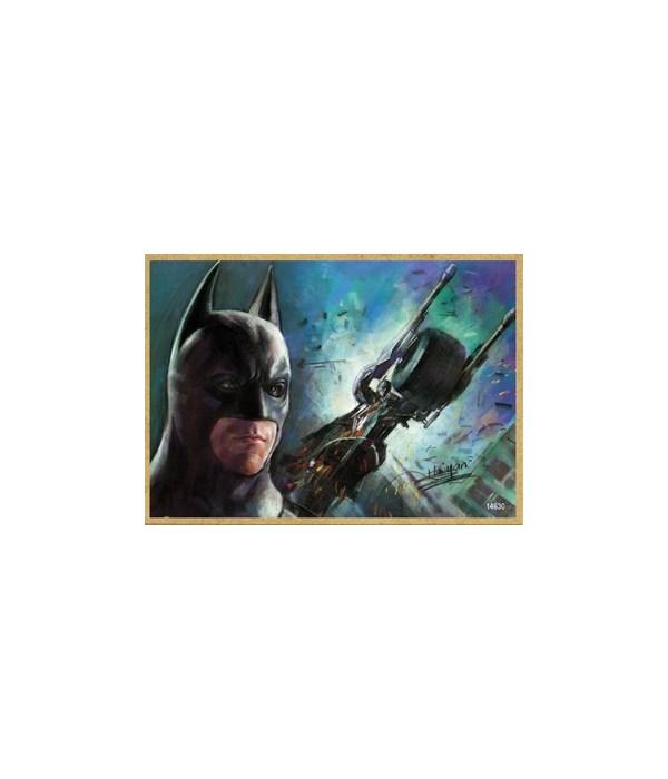 Batman (Dark Knight) & motorcycle Magnet
