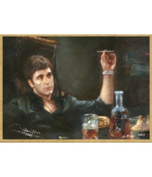 Scarface - Al Pacino leaning back with c