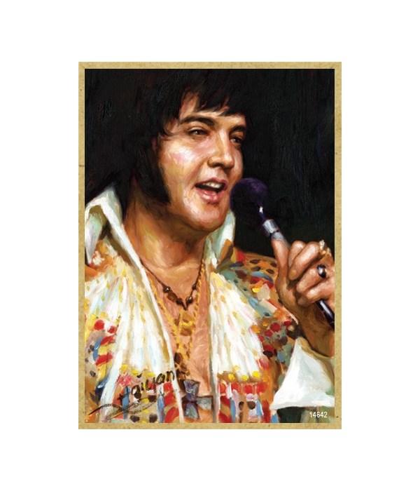 Elvis Presley white suit magnet