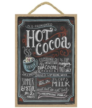 Hot cocoa colorful (blk with wht letteri