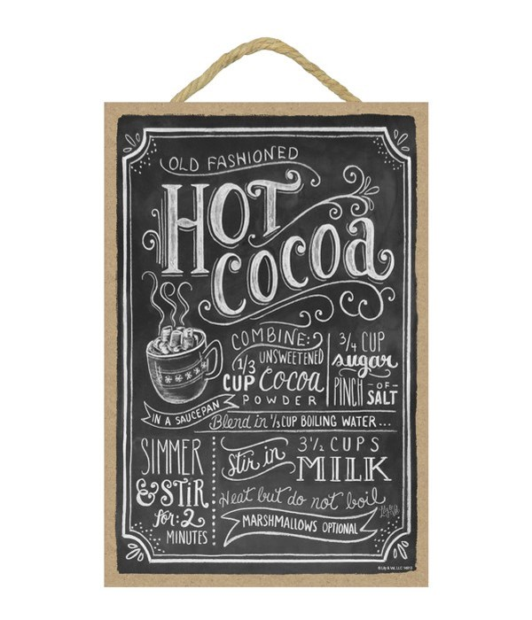 Hot cocoa (blk with wht lettering) 7x10