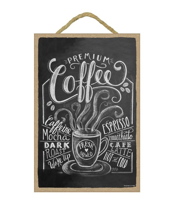 Coffee (blk with wht lettering) 7x10 Cha
