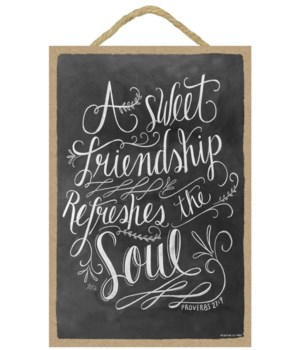 A sweet friendship refreshes 7x10 Chalk