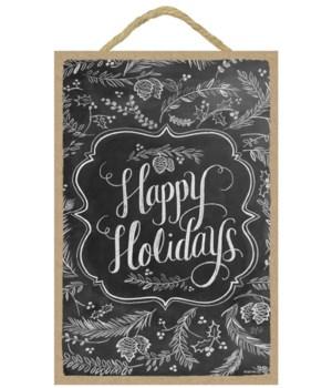 Happy Holidays 7x10 Chalk