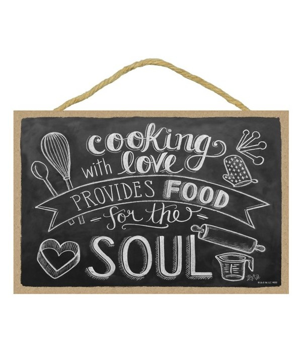 Cooking with love provides food  7x10 Ch