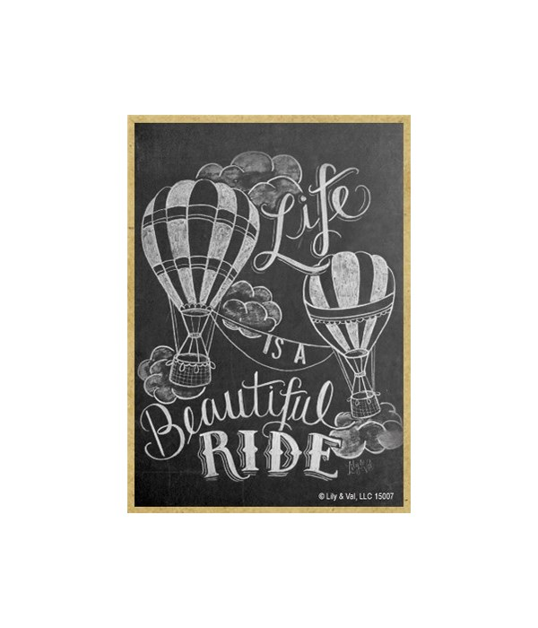 Life is a beautiful ride (vertical) Magn
