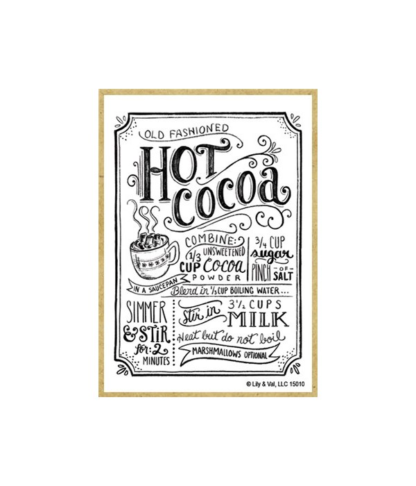 Hot cocoa (white with black letters) Mag