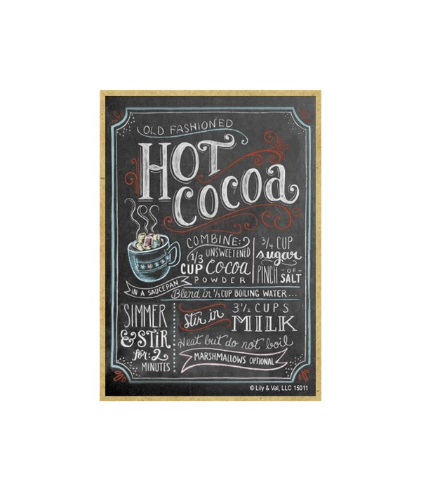 Hot cocoa colorful (black with white cha