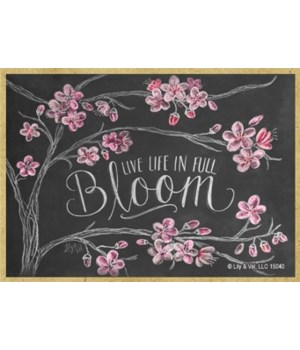 Live life in full bloom Magnet