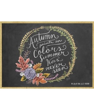 Autumn paints in colors summer has never