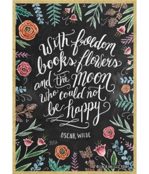 With freedom, books, flowers and the moo