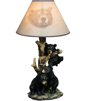 "Bear lamp w/ shade 20"" T"