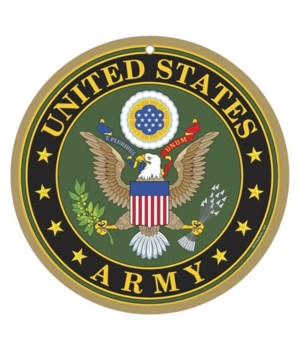 Army round sign 10""