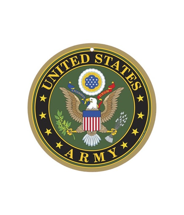 """Army round sign 10"""""""