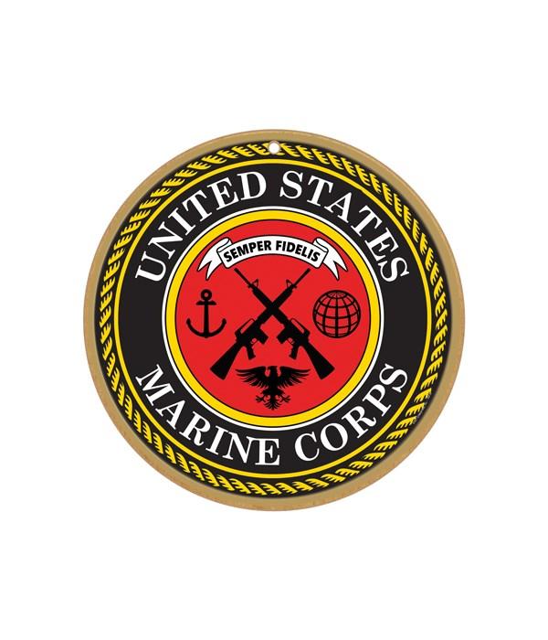"""Marines round sign 10"""""""