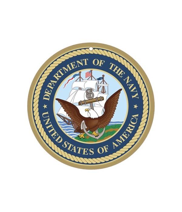 """Navy round sign 10"""""""
