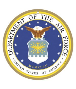 Air Force round sign 10""