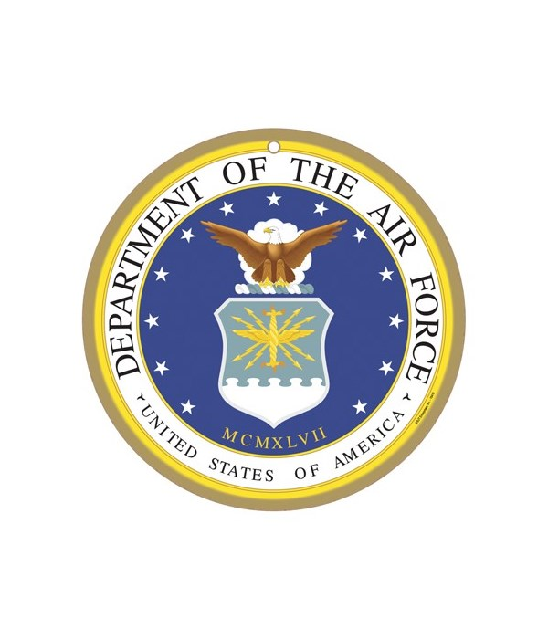 """Air Force round sign 10"""""""