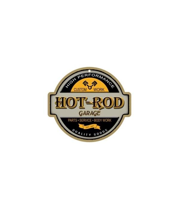 "Hot-Rod Garage 10"" sign"